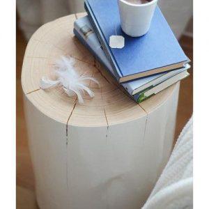 Tronco legno comodino tavolino bianco Degas