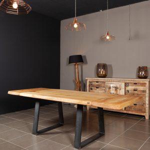 Tavolo da pranzo allungabile in legno massello Victor seleziona la tua misura