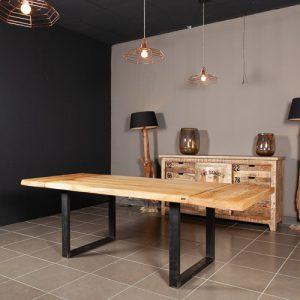 Tavolo da cucina allungabile in legno massello Cristopher scegli il colore della gamba