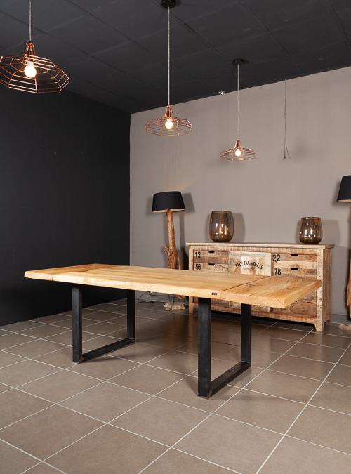 Tavolo da cucina allungabile in legno massello di castagno Christopher