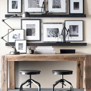 Tavolo scrivania in legno di castagno James