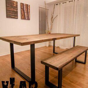 Tavolo da cucina in legno industrial Walter