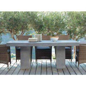 Tavolo da giardino effetto cemento Fiordaliso