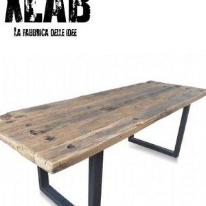 Tavolo da pranzo industrial design Elvin