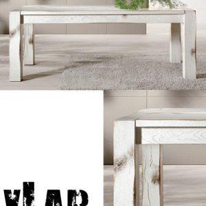 Tavolo da pranzo Kenny in legno effetto Shabby Chic