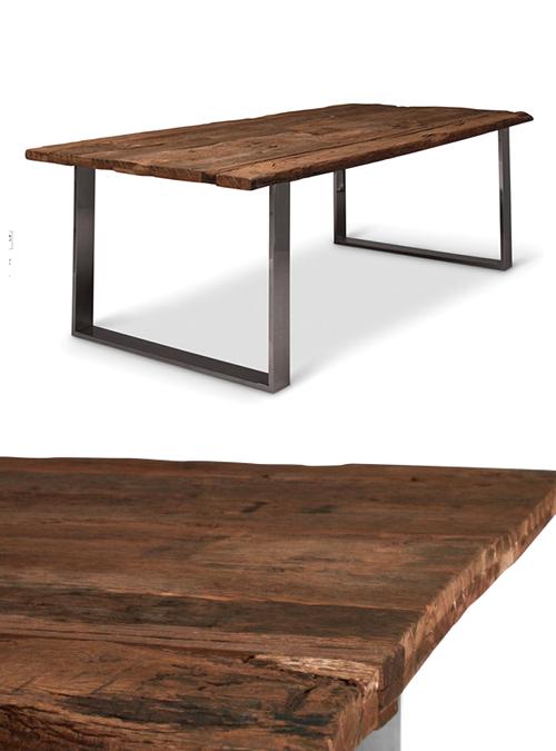 Tavolo Da Pranzo In Legno Massello Vintage Cliff Xlab
