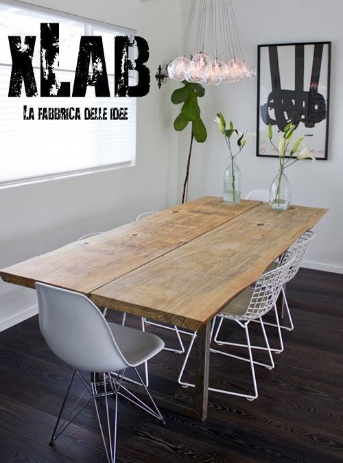 Tavolo da soggiorno in legno massello patrick xlab for Tavoli da soggiorno in legno