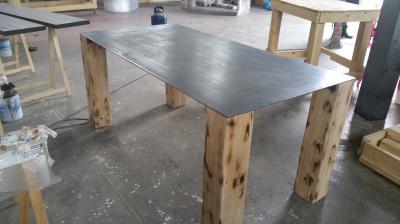 Tavolo Stile Industrial In Legno E Acciaio Baron Xlab