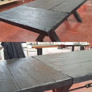 Tavolo allungabile Carbon legno carbonizzato
