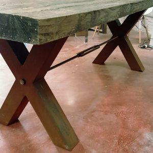 Pezzo unico tavolo da pranzo legno antico modello Stone Wood
