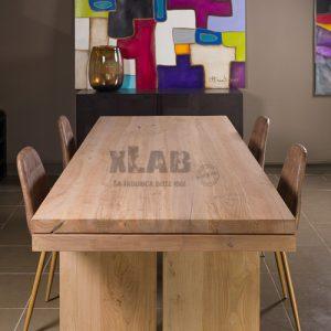 Tavolo da soggiorno in legno massello Raymond