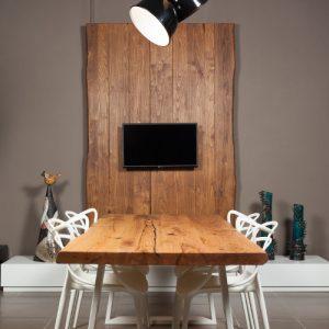 Tavolo rustico Alex in legno massello di castagno