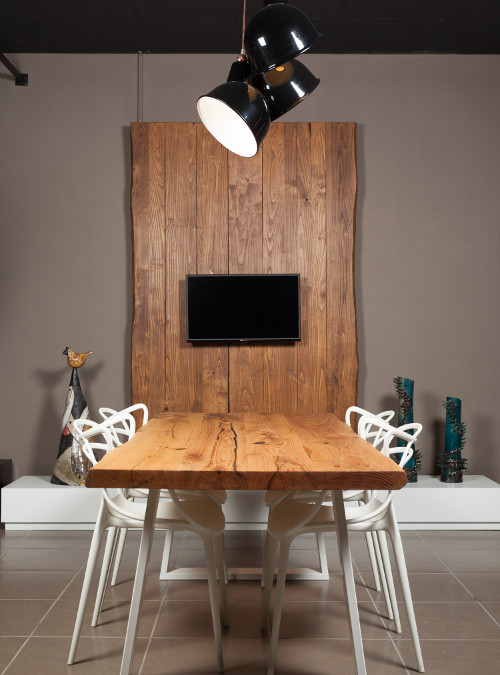 Tavolo da pranzo in legno massello di castagno alex xlab for Tavoli in legno massello rustici