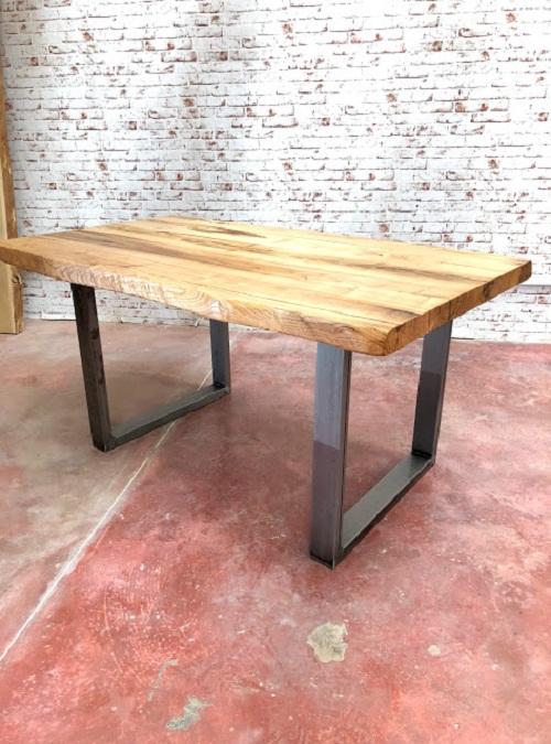 Tavolo da cucina in legno massello grezzo nathan xlab design for Tavolo da cucina legno