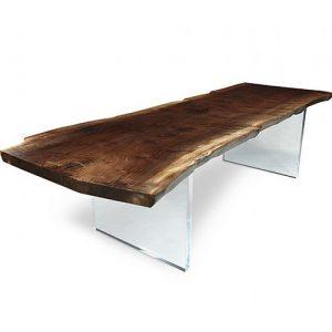 Tavolo da soggiorno legno e plexiglass Lux