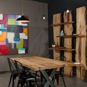 Rick tavolo in legno massello di castagno antico