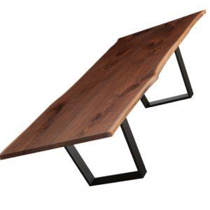 Tavolo in castagno grezzo taglio tronco Eddison
