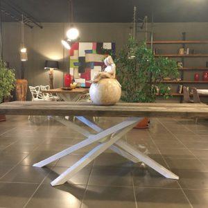 Gus tavolo in legno di castagno massello antico
