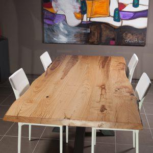 Tavolo XX in legno massello design industriale