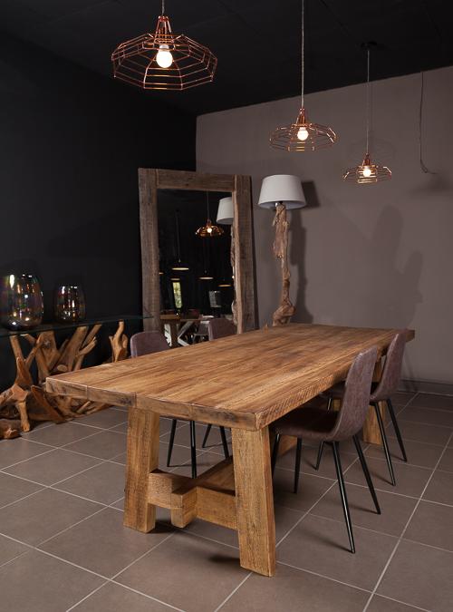 Tavolo in legno massello grezzo Planar stile rustico ...