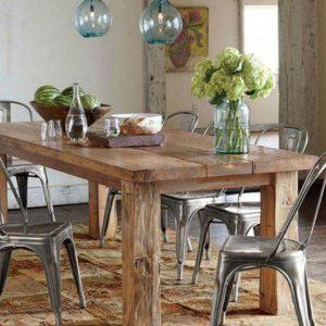 Tavolo da cucina Eldorado in legno massello di castagno