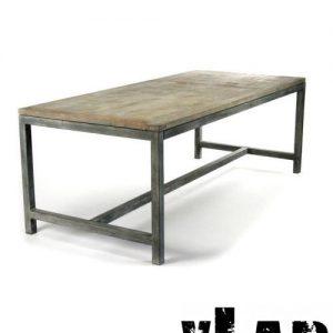 Tavolo in ferro e legno stile industrial Zack