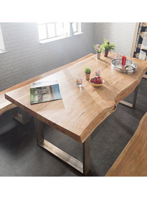 Tavolo in legno di castagno george prezzo scontato for Tavoli per cucina in legno