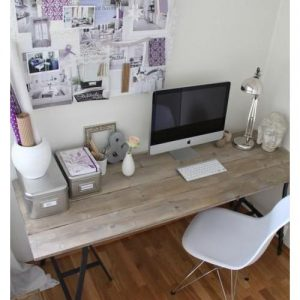 Tavolo scrivania massello di abete grigio Fallaci