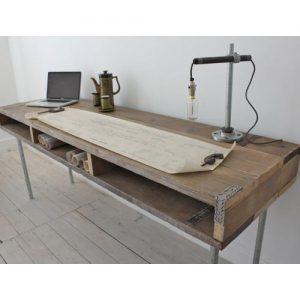 Scrittoio vintage old style in legno di riciclo Levi
