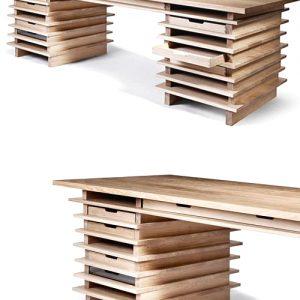Scrivania in legno di castagno Melville