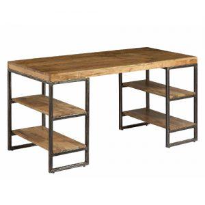 Scrivania in legno e ferro con mensole Pascoli