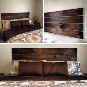 Testiera letto in legno massello Leo