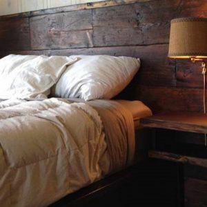 testiera letto matrimoniale in legno artigianale - XLAB Design