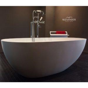 Vasca da bagno in resina e minerali tondo Reina Sofia Xlab