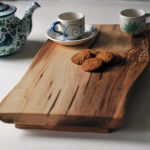 Vassoio da cucina in legno massello artigianale Cherry