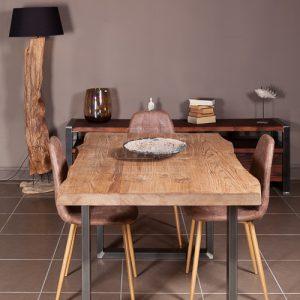 Tavolo in legno grezzo rovere country Greg