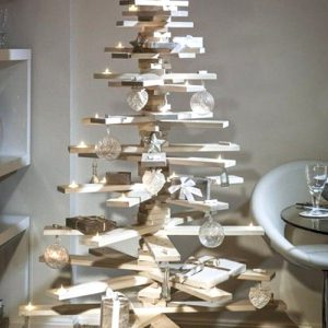 Albero di Natale in legno con rami original design H 130