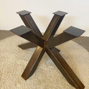 Gamba a stella per tavoli in ferro effetto ruggine Cavour