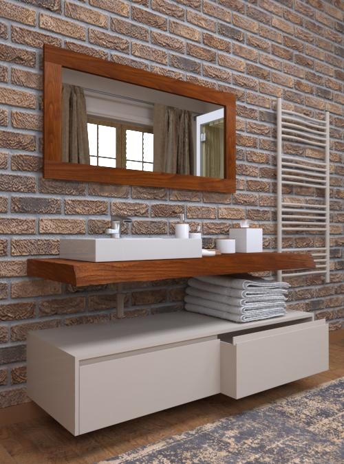 Georgia mobile bagno design minimal sospeso con cassetti for Mobile bagno minimal