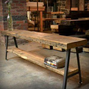 Consolle in legno massello e ferro Goodman