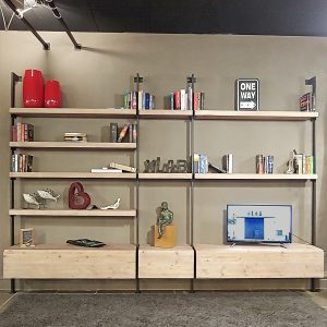 Libreria da parete di design stile moderno Pirandello