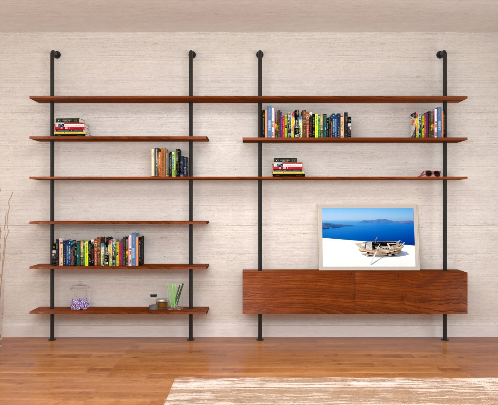 Termoarredo Da Salotto Prezzi libreria da soggiorno in stile industriale svevo