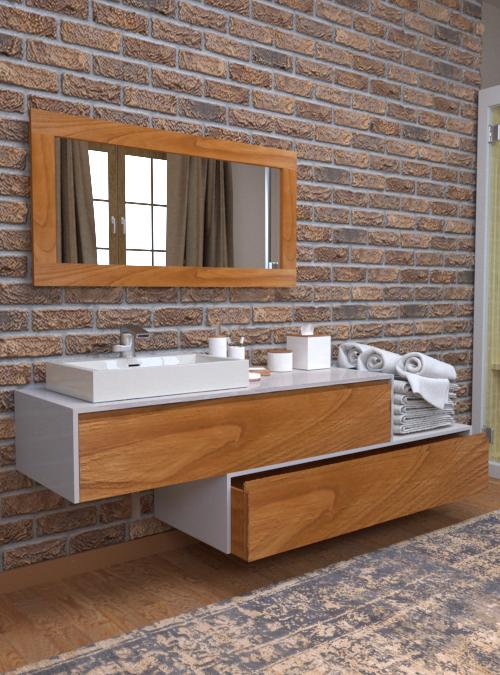 Arredo Bagno Design Moderno Mobile Da Bagno Sospeso Con Cassetti