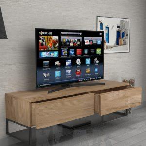 mobile porta tv sospeso in legno - XLAB Design
