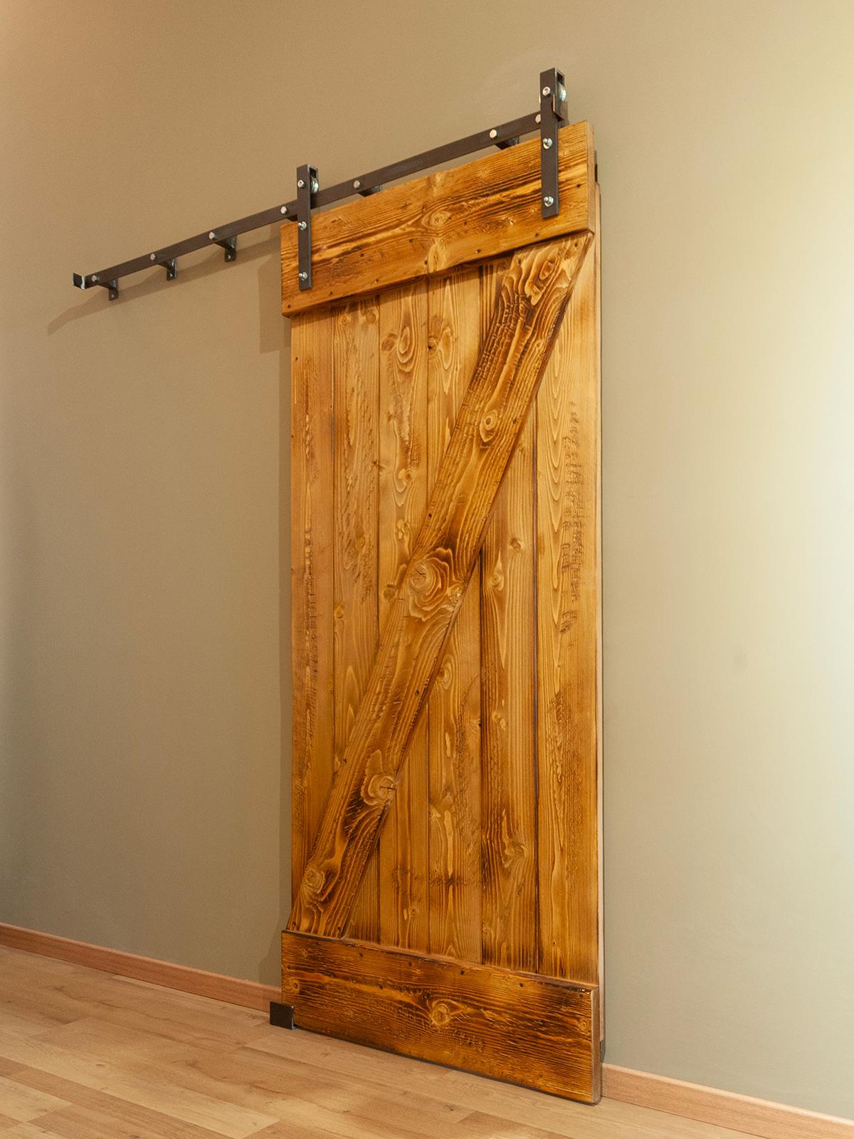 Vendita Mobili Stile Vecchia America porta scorrevole barn door in legno rustico cloud