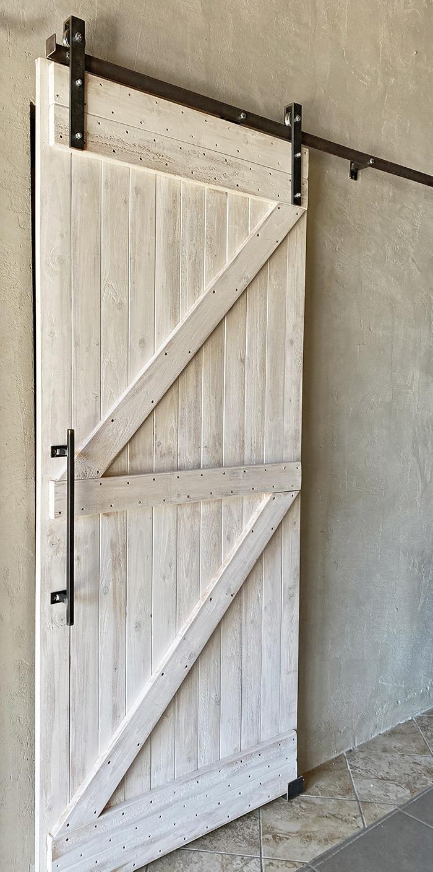 Porta Scorrevole Con Binario Esterno barn door fienile porta scorrevole esterno muro shabby chic dennis
