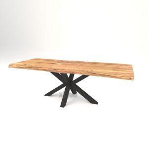 Tavolo da pranzo allungabile Jeff in legno massello