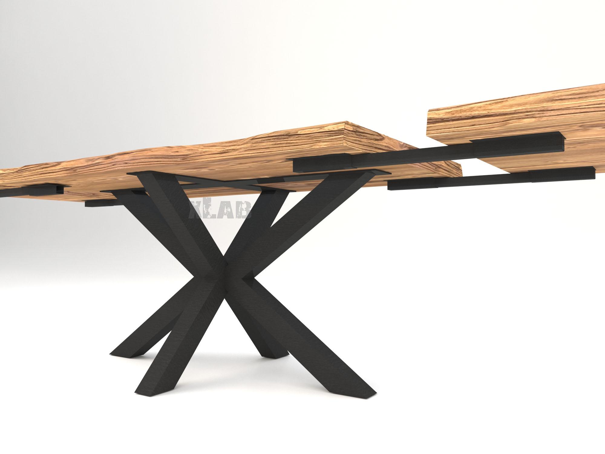 Tavolo Con Gamba Centrale Allungabile tavolo da pranzo allungabile jeff in legno massello