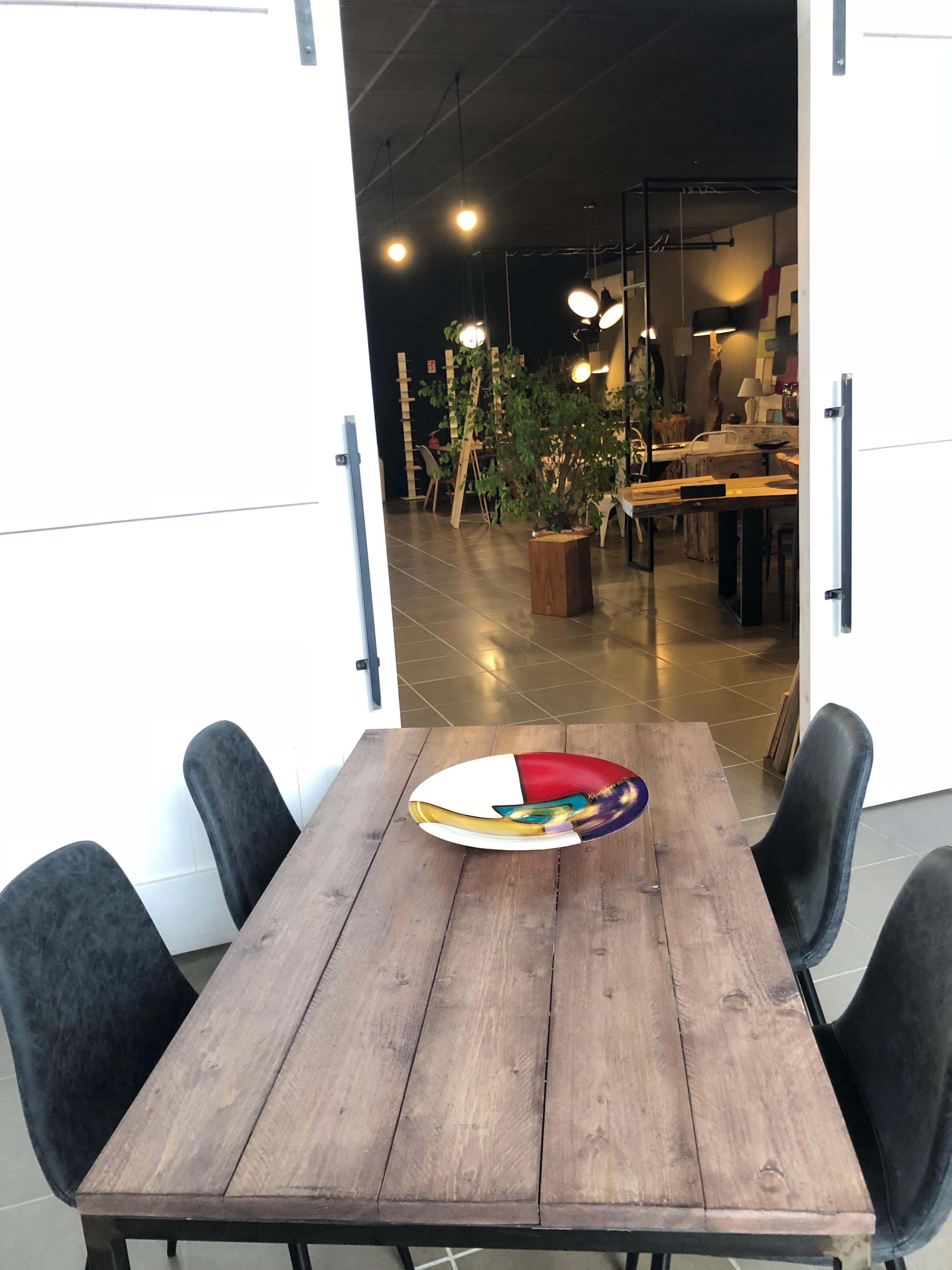 Tavolo In Legno E Ferro Stile Industriale Gary Xlab Design