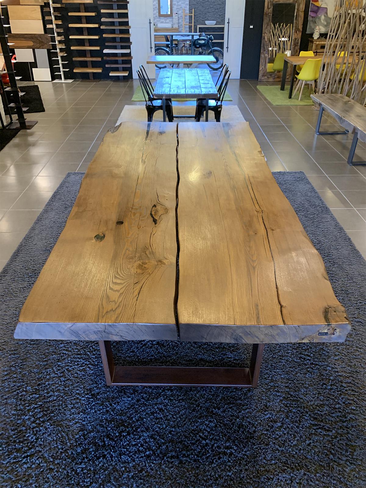 Tavolo in legno massello di castagno antico virgi xlab design for Tavolo di legno